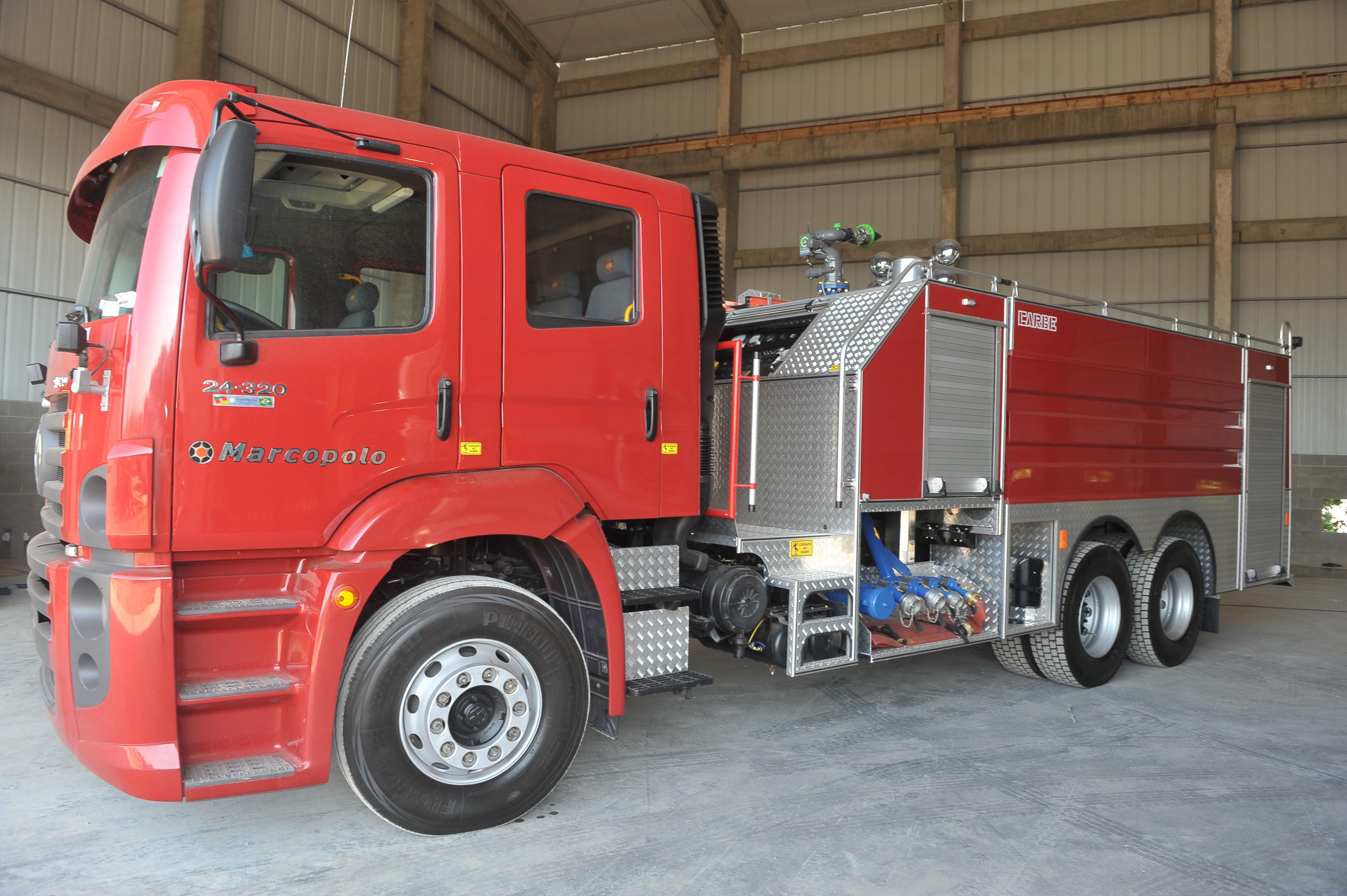 caminhao de bombeiros marcopolo - vw 24-320